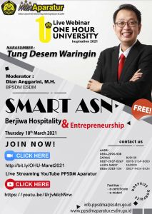 One Hour Unviersity : Smart ASN Berjiwa Hospitality & Entrepreneurship